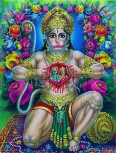 SIta ja Rama ovat Hanumanin sydämessä